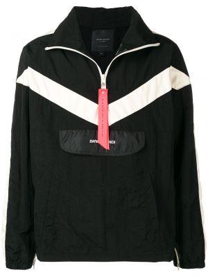 Czarna długa kurtka z nylonu z długimi rękawami Daniel Patrick