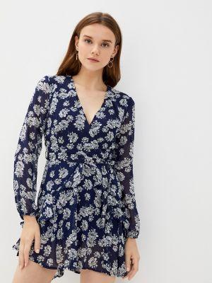Синее платье с запахом Zibi London