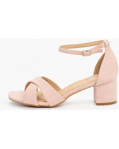 Велюровые розовые босоножки Marquiiz