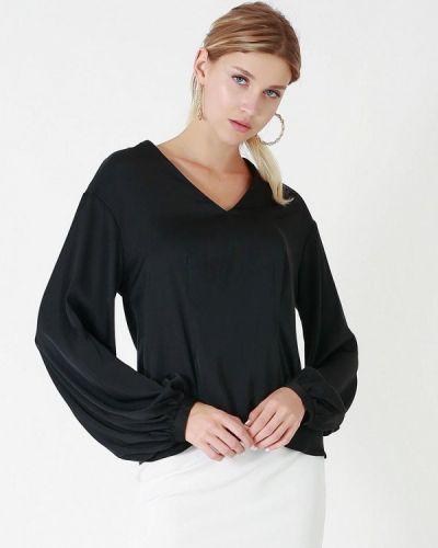 Черная зимняя блузка Lussotico