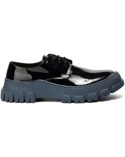Кожаные синие туфли закрытые Principe Di Bologna
