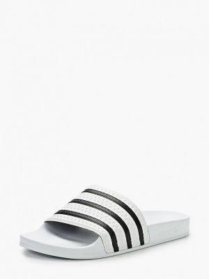 Белые сланцы резиновые Adidas Originals