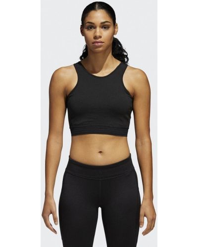 Черный спортивный топ Adidas