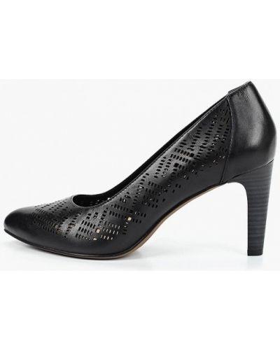 Туфли-лодочки на каблуке кожаные Tamaris