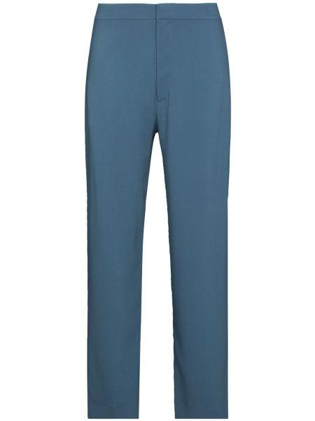 Niebieskie spodnie z wiskozy Asceno