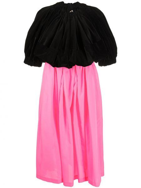Плиссированное с завышенной талией черное платье мини Comme Des Garçons