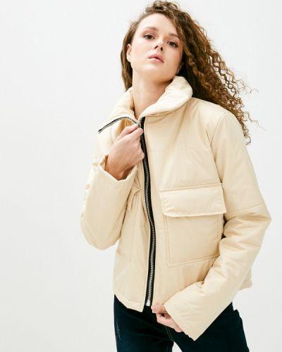 Бежевая утепленная куртка Be Main
