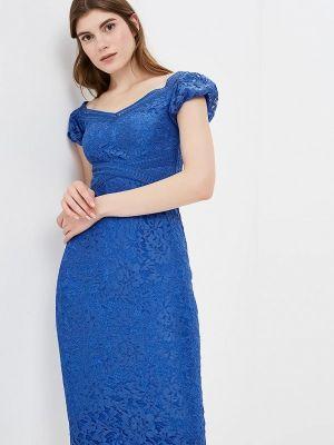 Платье осеннее синее Little Mistress