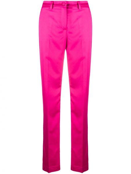 Прямые розовые брюки с потайной застежкой Hebe Studio