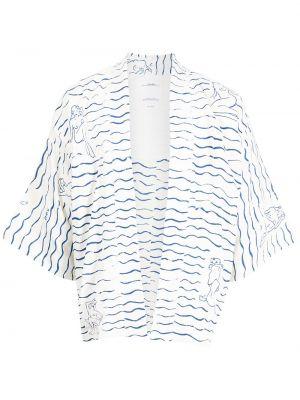 Biała koszula z printem Visvim