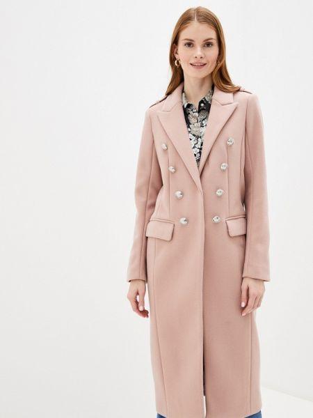 Розовое пальто с капюшоном River Island