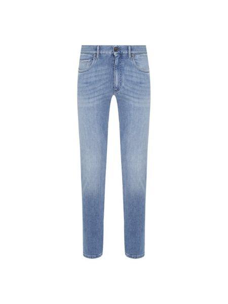 Хлопковые синие джинсы стрейч Ermenegildo Zegna