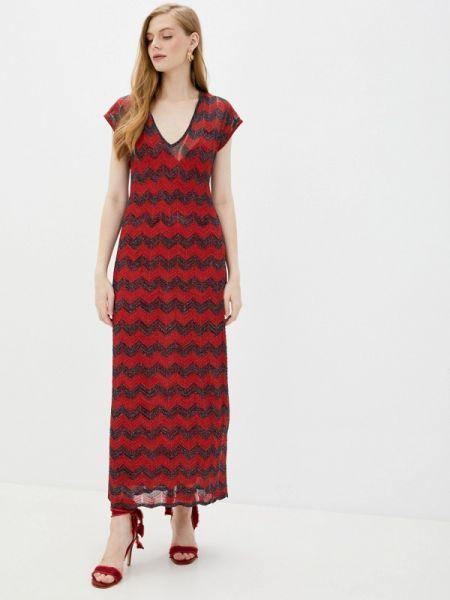 Красное повседневное платье M Missoni