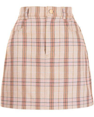 Хлопковая с завышенной талией юбка в клетку Manning Cartell