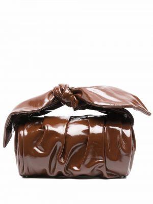 Коричневая кожаная сумка Rejina Pyo