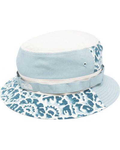 Niebieski kapelusz w kwiaty z nylonu The North Face