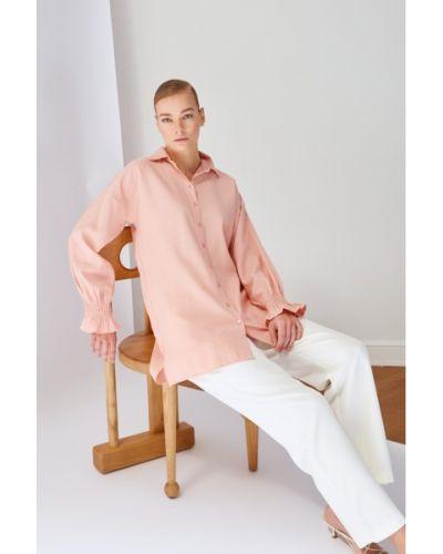 Różowa tunika z wiskozy Koton