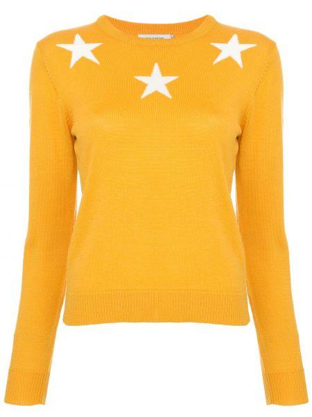 Желтый акриловый свитер в рубчик с круглым вырезом Guild Prime