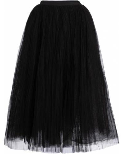 Czarna spódnica maxi tiulowa kaskadowa Khaite
