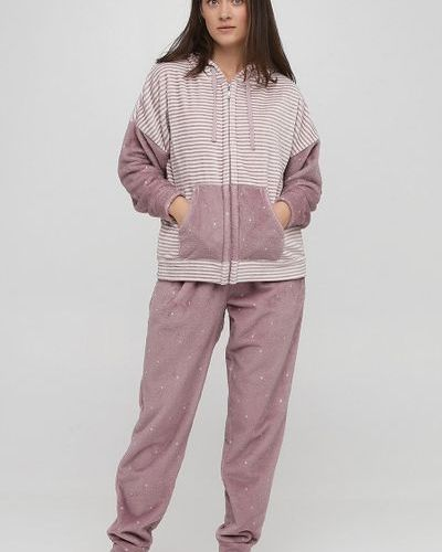 Пижама с капюшоном - розовая Naviale
