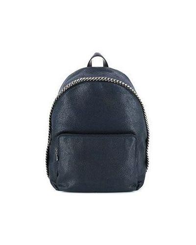 Рюкзак из искусственной кожи синий Stella Mccartney