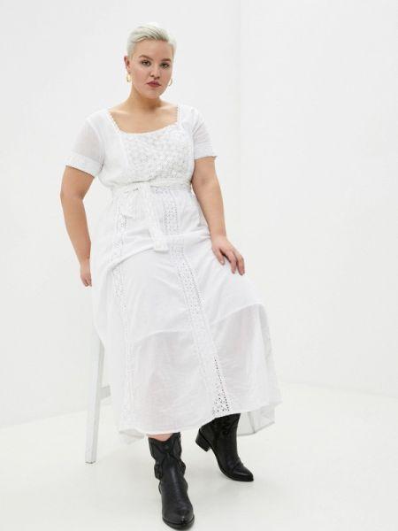 Ватное хлопковое белое платье Fresh Cotton