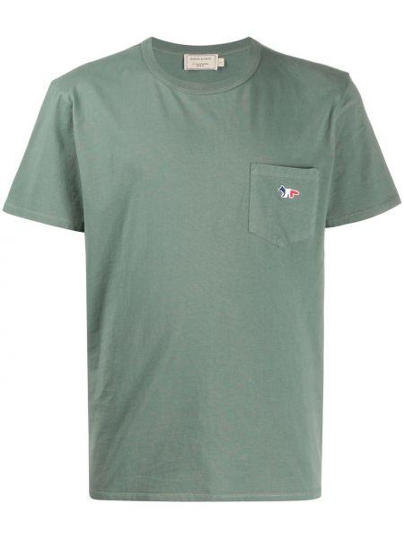 Koszula krótkie z krótkim rękawem z logo prosto Maison Kitsune
