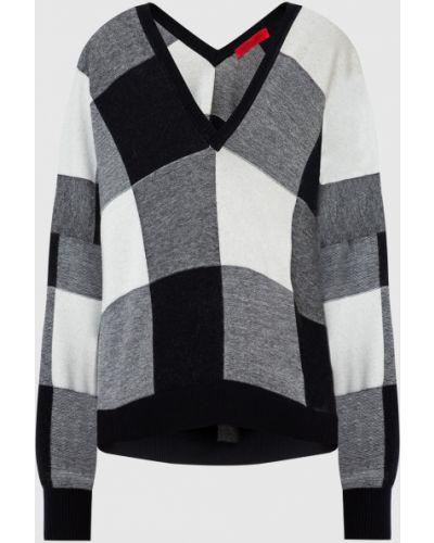 Пуловер в клетку - черный Max & Co