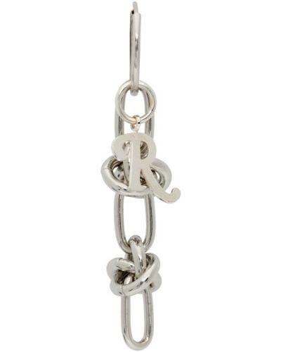 Srebrne kolczyki srebrne Raf Simons