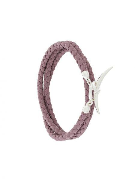 Фиолетовый кожаный браслет Shaun Leane