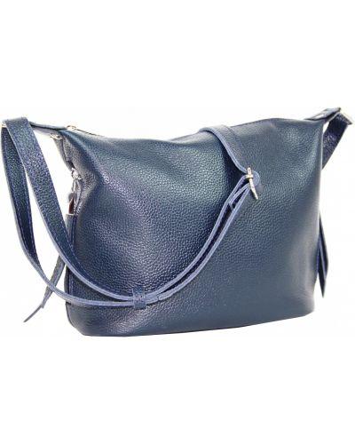 Кожаная сумка - синяя Borsacomoda