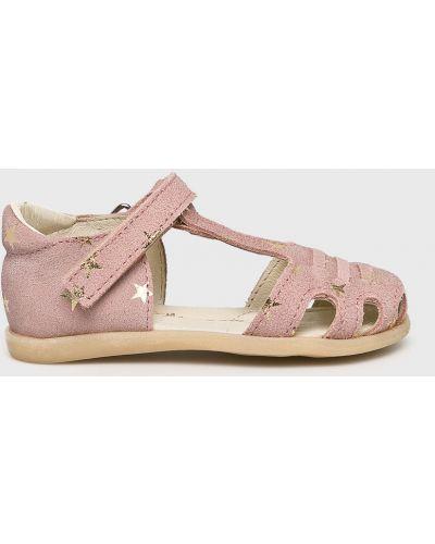 Кожаные босоножки розовый Mrugała