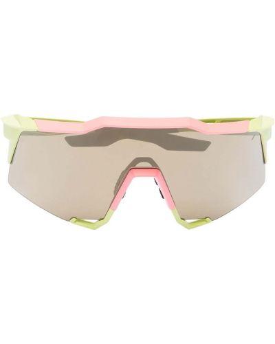 Okulary z printem - żółte 100% Eyewear