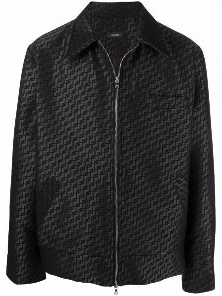 Czarna koszula bawełniana z długimi rękawami 3.paradis