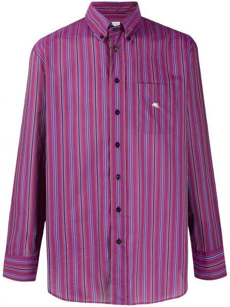 Koszula z długim rękawem fioletowy karmazynowy Etro