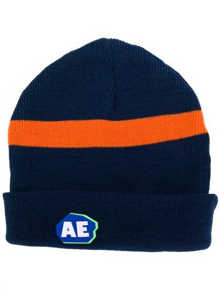 Niebieski kapelusz wełniany w paski Ader Error