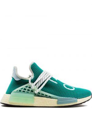 Zielone sneakersy sznurowane koronkowe Adidas By Pharrell Williams