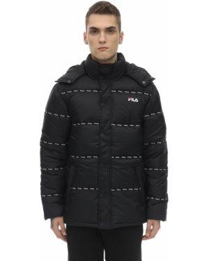 Czarna kurtka z kapturem Fila Urban