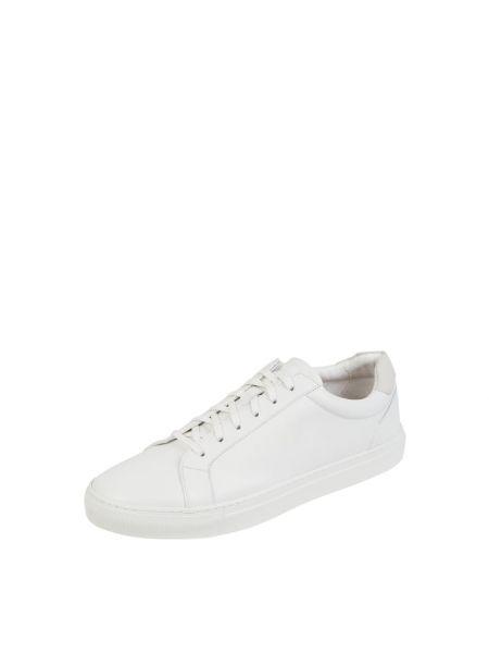 Białe sneakersy skorzane Cinque