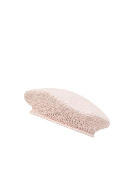 Różowy beret bawełniany Loevenich