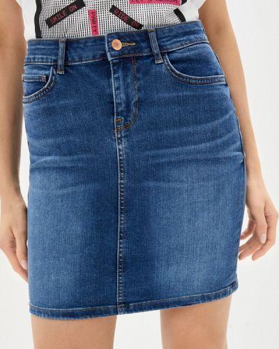Синяя джинсовая юбка Guess Jeans