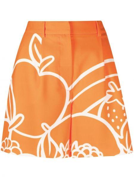 Оранжевые шорты с потайной застежкой Boutique Moschino