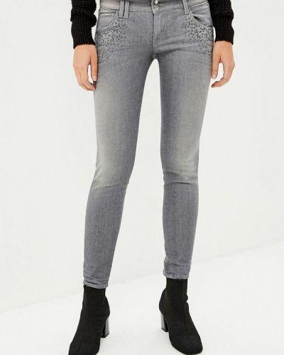 Серые джинсы-скинни Gas