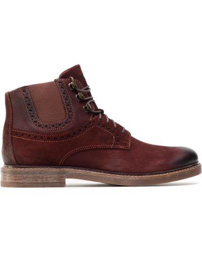 Ботинки - бордовые Quazi
