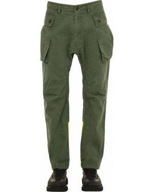 Zielone spodnie z paskiem ciążowe Griffin