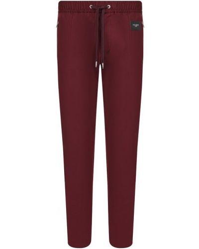 Спортивные брюки прямые хлопковые Dolce & Gabbana