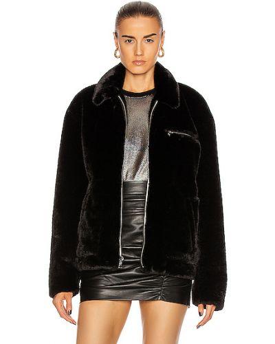 Черная джинсовая куртка из искусственного меха с карманами Rta