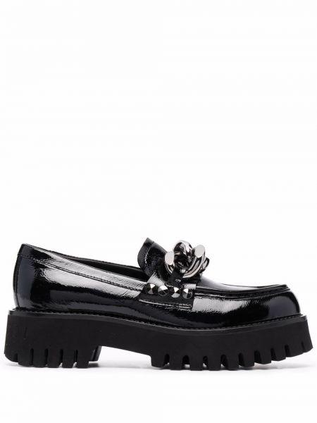 Черные массивные туфли Casadei