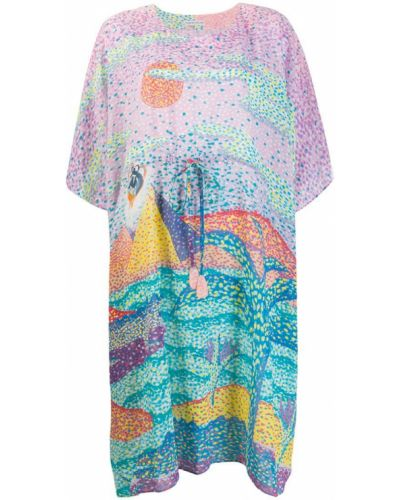 Платье мини розовое футболка Tsumori Chisato