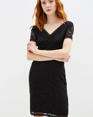 Вечернее платье осеннее черное Yumi